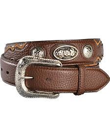 Gibson Trading Co. Men's Concho Shrunken Grain Leather Belt