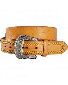 Gibson Trading Co. Men's Stitch Ostrich Embossed Leather Belt
