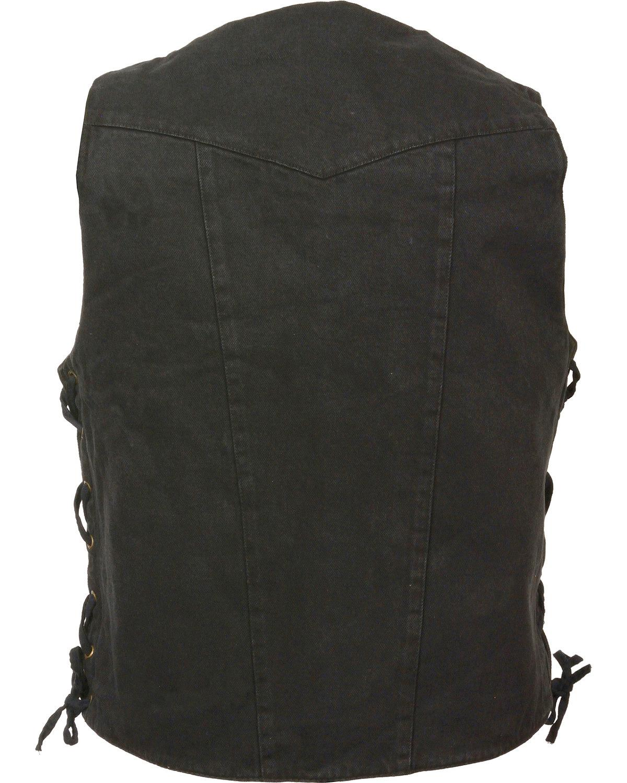 Milwaukee Leather Men/'s 10 Pocket Side Lace Denim Vest 3X DM1989-BLUE-3X