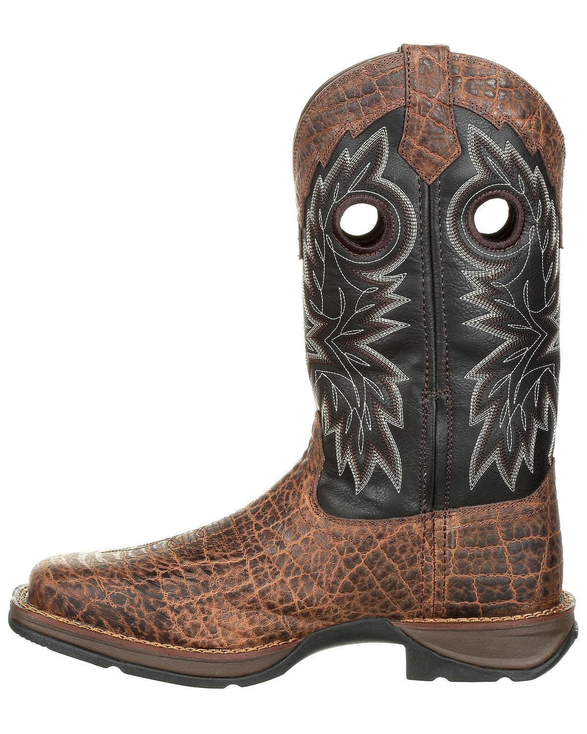 Durango Men/'s Rebel Faux Elephant Grain Western Boot Square Toe DDB0168