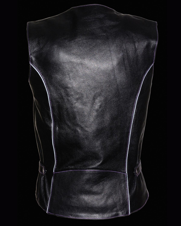 Milwaukee Leather Women/'s Reflective Tribal Design Vest 5X Bk//Pu