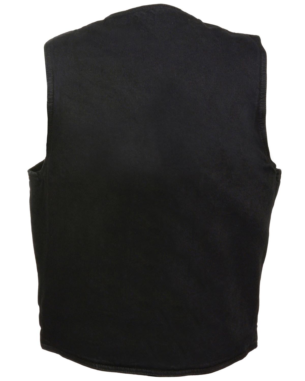 Milwaukee Leather Men/'s Classic Snap Front Denim Biker Vest DM1310