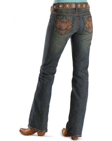 Petrol Jeans - Roxie Rose Embroidery Slim Fit - 32