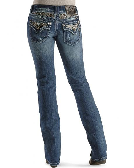 Miss Me Jeans - Embellished Lace Slim Fit - 33 1/2