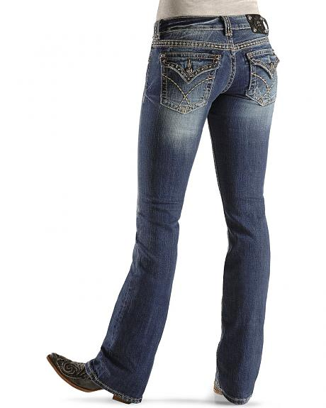 Miss Me Junior's Basic Stone Flap Pocket Jeans - 33 1/2