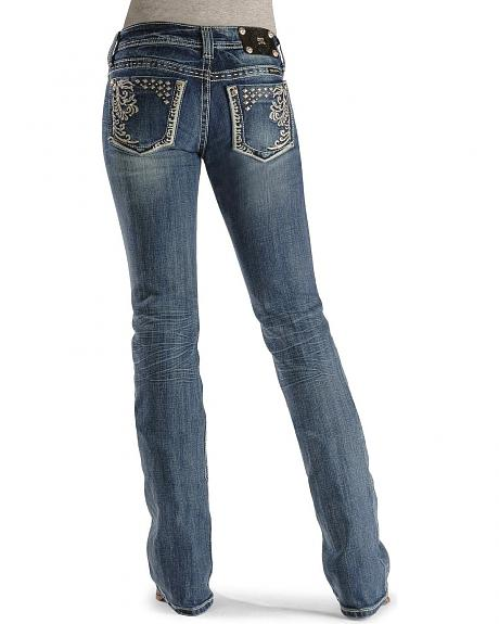 Miss Me Jeans - Studded Embroidery Boot Cut - 33 1/2
