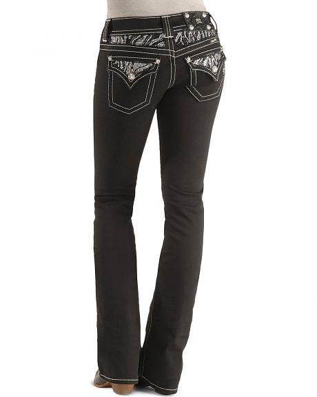Miss Me Jeans - Zebra Detail Pocket Boot Cut Jean