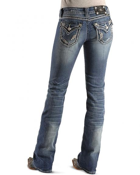 Miss Me Jeans - Fancy Flap Pockets Boot Cut - 33 1/2