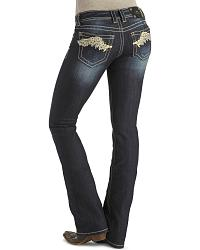 Miss Me Jeans - Winged Applique Open Pocket - 33 1/2