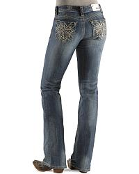 Grace In L.A. Embellished Cross Embroidery Jeans at Sheplers