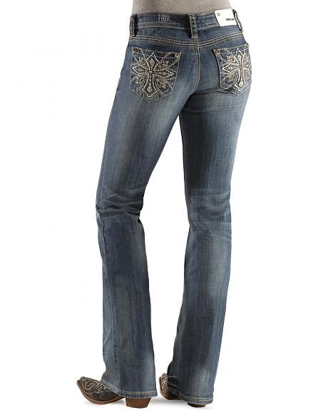 Grace In LA Embellished Cross Embroidery Jeans