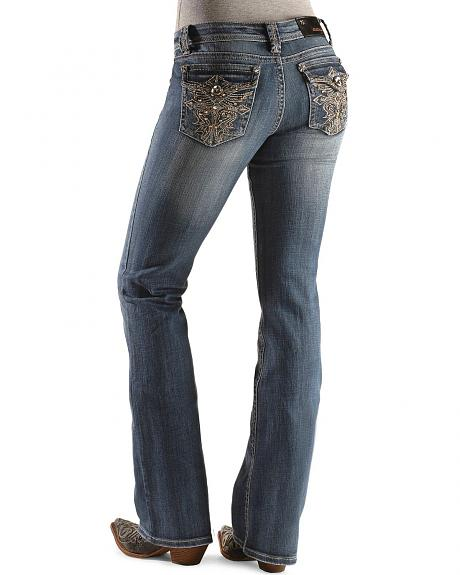 Grace In LA Studs & Rhinestones Pocket Jeans
