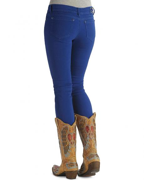 Grace In LA Royal Blue Skinny Leg Jeans
