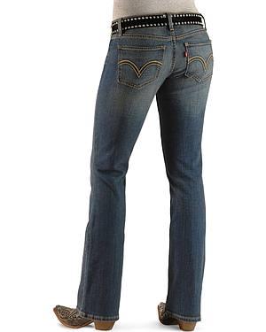 Levis 524 Jeans - Blue Rider Superlow