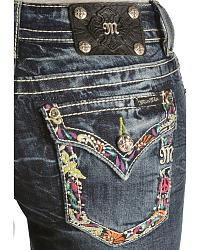 Miss Me Multcolored Embroidered Pocket Capris at Sheplers