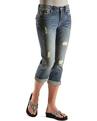 Miss Me Flap Pocket Rollcuff Capris at Sheplers