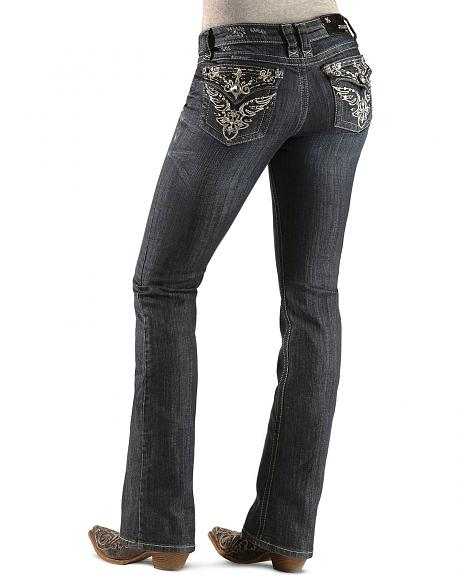 Grace in L.A. Embellished Wing Flap Pockets Jeans