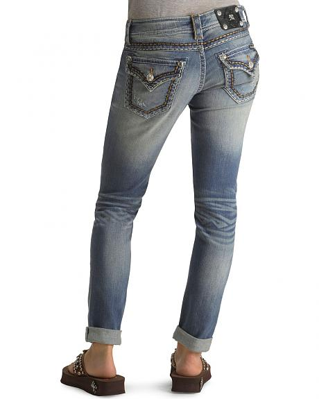 Miss Me Stitched Trim Skinny Ankle Jeans