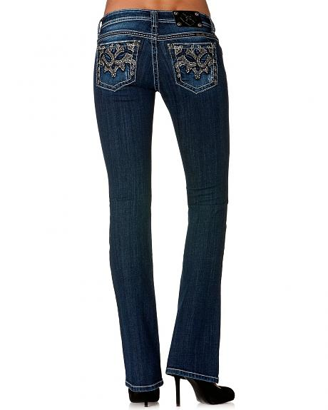 Miss Me Double Horseshoe Embroidered Jeans - Extended Sizes