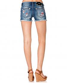 Miss Me Flag Patch Shorts