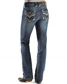 "Cowgirl Up Colorful Rhinestone Embellished Jeans 34"" inseam"