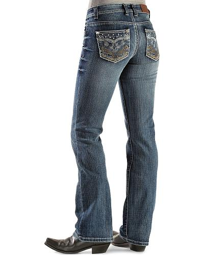 Cowgirl Up Embroidered Scroll Back Pocket Jeans Western & Country CGJ40503