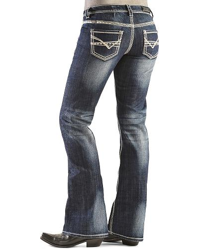 Rock & Roll Cowgirl Bootcut Riding Jeans Western & Country W7-9516