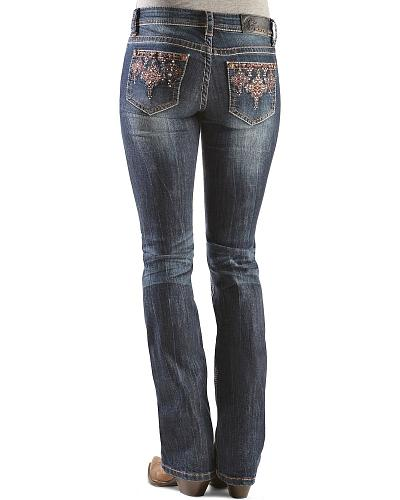 Grace in L.A. Red Tribal Applique Jeans Western & Country JB6818