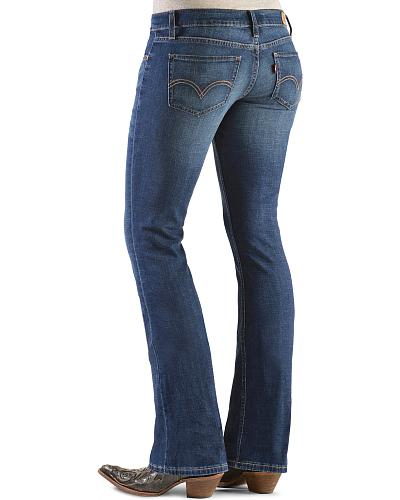 Levis 524 Juniors Low Rise Bootcut Jeans Western & Country 11524-0055