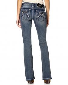 Miss Me Initial M Embellished Bootcut Jeans