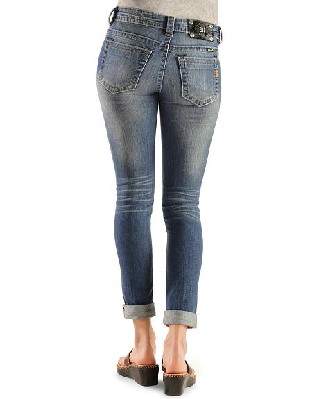 Miss Me Distressed Cuffed Skinny Jeans