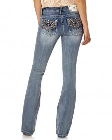 Miss Me Aztec Embellished Bootcut Jeans - Extended Sizes