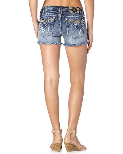 Miss Me Distressed Patchwork Cutoff Shorts