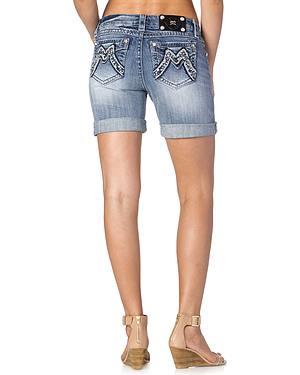 Miss Me Distressed Boyfriend Shorts