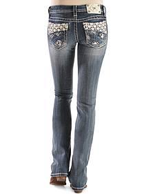Miss Me Floral Crochet Bootcut Jeans
