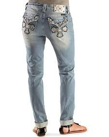 Miss Me Cross Pocket Boyfriend Fit Skinny Jeans