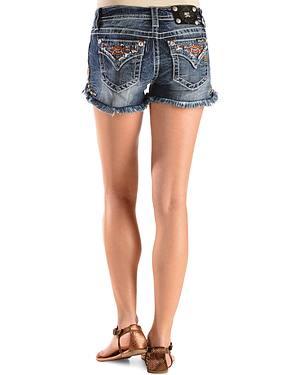 Miss Me Womens Studded Cut-Off Denim Shorts