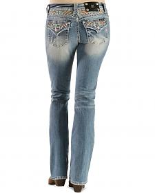 Miss Me Rainbow Embroidered Relaxed Fit Bootcut Jeans