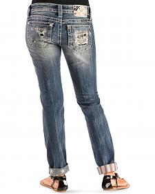 Miss Me Stars & Stripes Cuffed Skinny Jeans