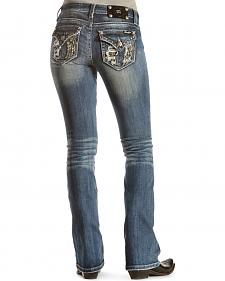 Miss Me Fallen Angel Distressed Bootcut Jeans