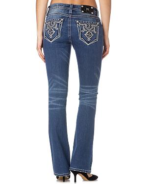 Miss Me Relaxed Embellished Bootcut Jeans
