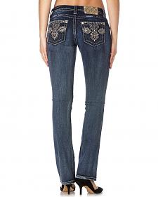 Miss Me Women's Sparkly Embellishment Slim Bootcut Jeans