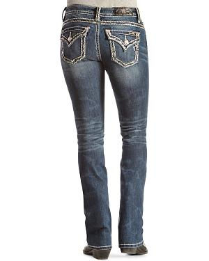 Miss Me Thick Stitch Bootcut Jeans