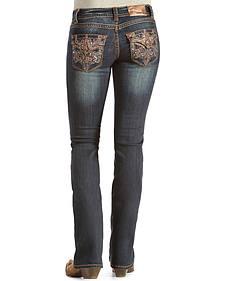 Grace in L.A. Women's Fleur-de-lis Bootcut Jeans