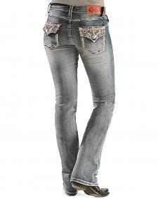 Grace in L.A. Aztec Embroidery Bootcut Jeans