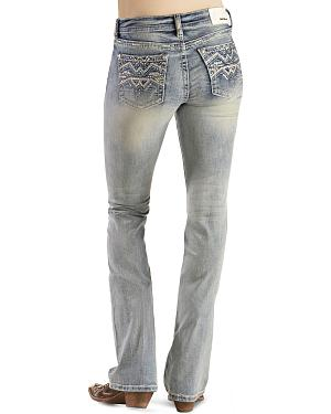 Grace in L.A. Zig-Zag Stitch Easy Fit Bootcut Jeans