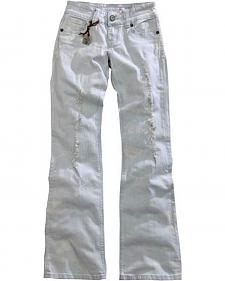 Tin Haul Women's Bootcut Rosie To Go The Go To Distressed Bleached Jeans