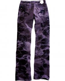 Tin Haul Women's Bootcut Rosie To Go The Go To Purple Tie Dye Jeans