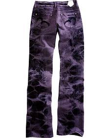 Tin Haul Women's Bootcut Rosie To Go The Go To Purple Tie Dye Jeans
