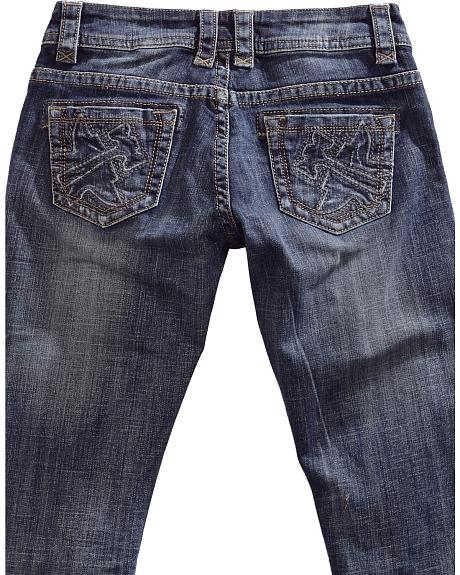 Tin Haul Women's Dolly Celebrity Embossed Logo Bootcut Jeans